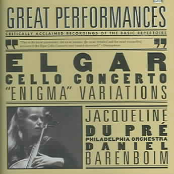 ELGAR:CELLO CONCERTO ENIGMA VARIATION BY DUPRE,JACQUELINE (CD)